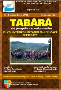 Tabără de pregătire a voluntarilor